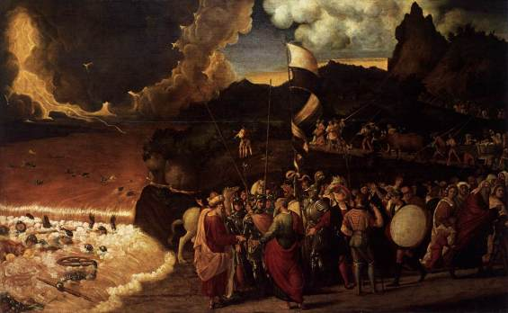 Image result for moses red sea painting