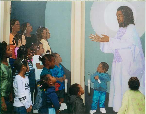 paintings of jesus with children. Jesus Welcoming Children HASSE