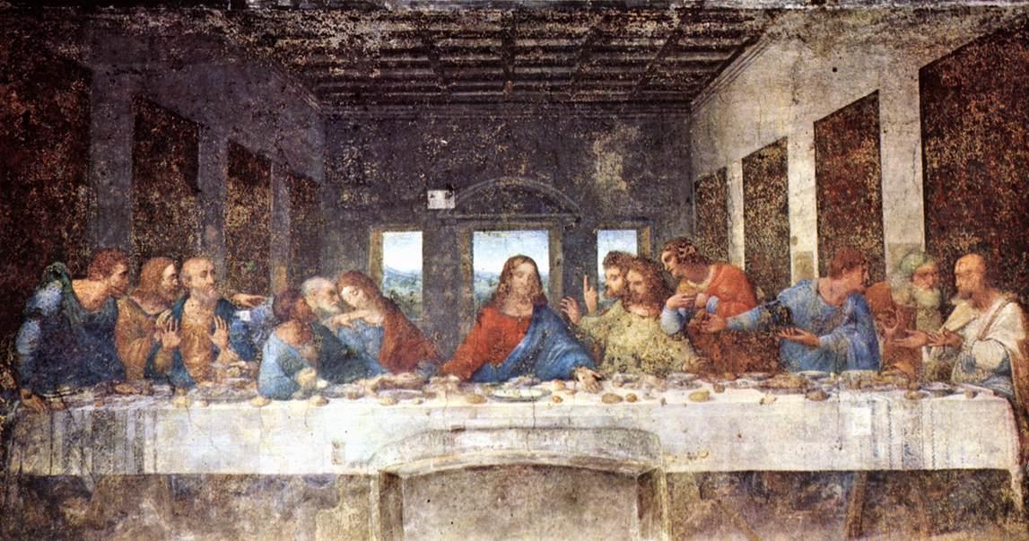 Last Supper | The Bible Through Artists' Eyes Da Vinci Last Supper Original